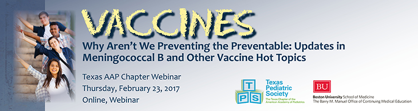 Why Aren't We Preventing the Preventable: Updates in Meningococcal B and Other Vaccine Hot Topics