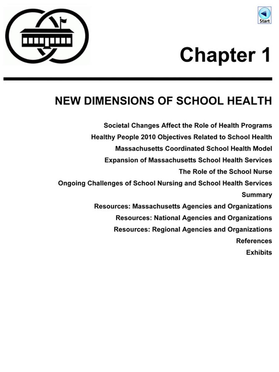Comprehensive School Health Manual: Massachusetts Department of Public  Health